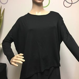 NWT Zara loose fit black long sleeve shirt Small